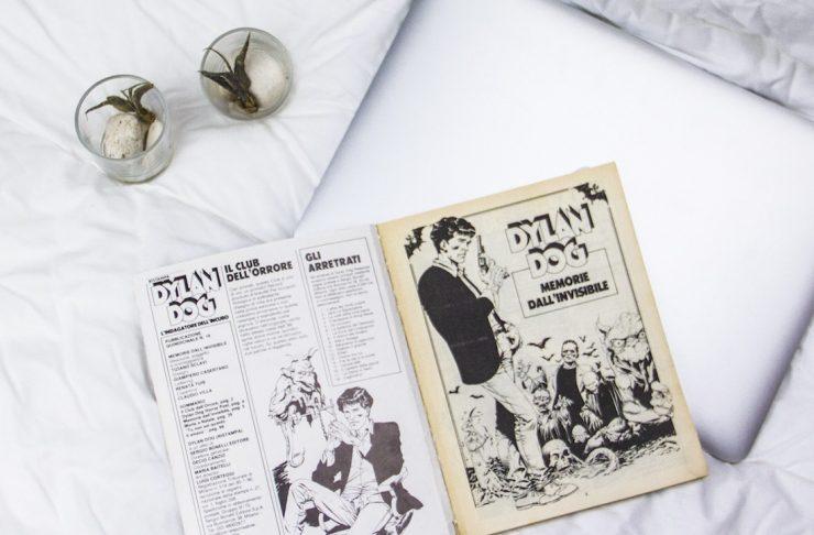 fumetto di dylan dog sul letto, che cosa ti serve per dormire bene?