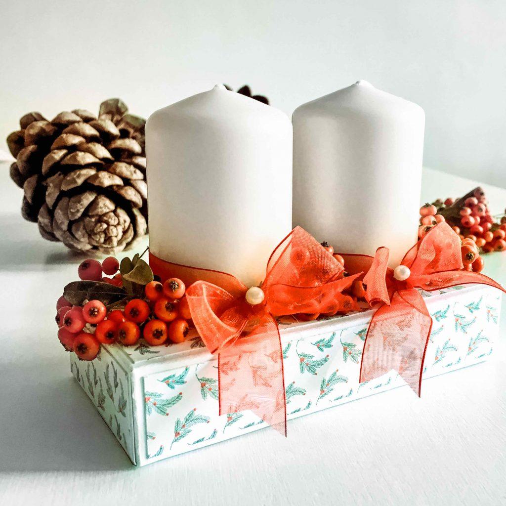 Decorazioni natalizie fai da te la nostra idea la for Decorazioni da tavolo natalizie